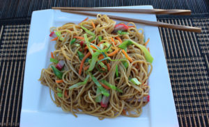 Chow Mein on Plate