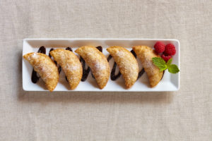 Nutella Raspberry using Gyoza wrappers