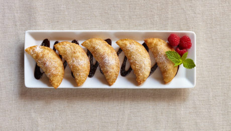 Nutella Raspberry Gyoza